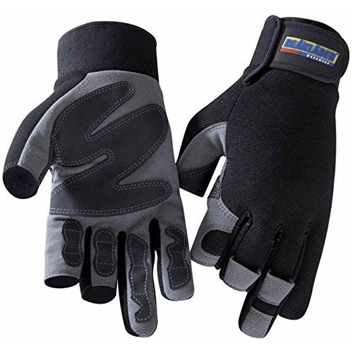 Blakläder Handschuhe 'Mechanik 3-Finger Zimmermann', 1 Stück, 11, schwarz / grau, 22333913999411