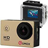 QUMOX SJ4000 SJ4000 Gold-Action-Sport-Nocken-Kamera wasserdichte Full HD 1080p 720p Video Foto Fahrradhelmkamera Wassersport mit Wasserdichtes Gehäuse