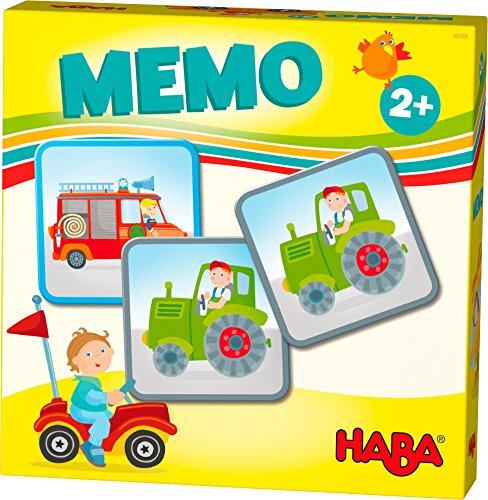 HABA 303760 - HABA-Lieblingsspiele - Memo Fahrzeuge | Memo-Spiel mit 16 extragroßen Karten | 8 Kartenpaare mit bunten Fahrzeugmotiven | Spiel ab 2 Jahren