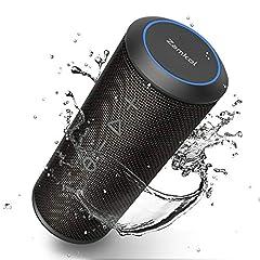 Idea Regalo - Zamkol 24W Cassa Altoparlante Bluetooth, IPX6 Portatile Wireless Speaker TWS & AUX & USB, 4.2 Bluetooth Subwoofer Shockproof Speakers, Audio Stereo 360 per Smartphone, Computer, TV, Viaggio