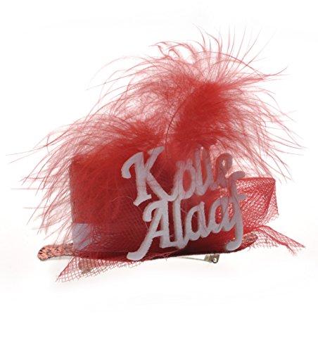 NEU Hut Mini-Hut Kölle Alaaf, rot, 1 (Rote Hut Kostüm)