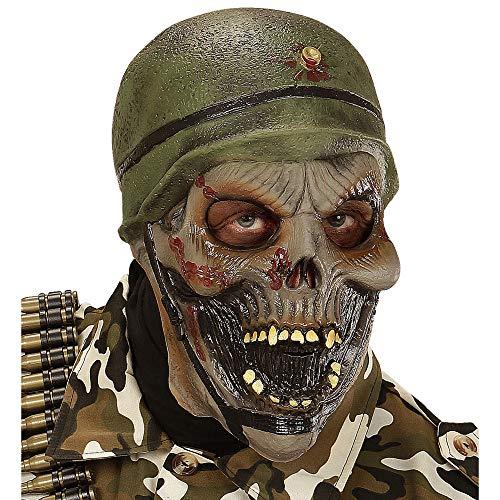 Widmann 00397 - Maske Zombiesoldat für Erwachsene (Militar Disfraz Halloween)