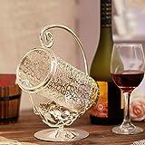 CJH Lega d'argento placcato elegante e splendido europeo creativo vino cremagliera maniglia maniglia contatore espositore vino rack