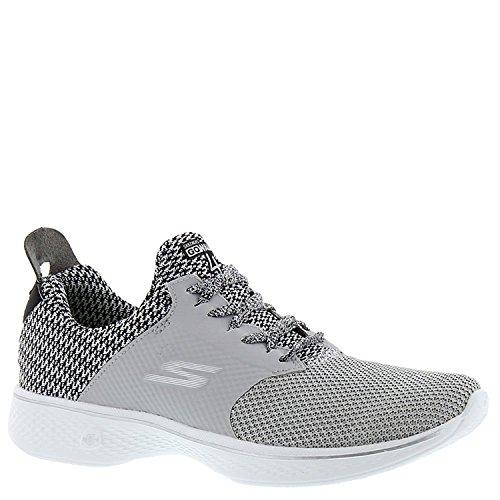 Skechers Go Walk 4 - Sustain Womens Sneaker- Light Gray/Black- 9