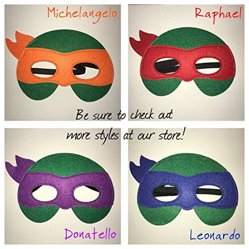 Teenage Mutant Ninja Turtles Set Filz Maske – X4 Masken