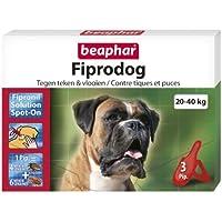 Beaphar fiprodog pipetas contra Chips y tiques para perro grande 20–40kg AU fipronil 3pipetas de 2,68ml