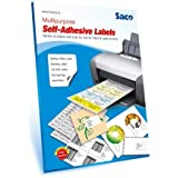 Saco Self-Adhesive Label - 21 Label per Page(A4) - 100 Sheets