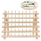 ultnice rosca soporte soporte de estante de madera 60bobina hilo organizador plegable cono soporte de pared