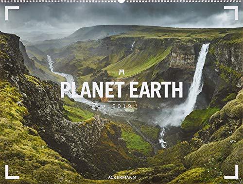 Planet Earth - Ackermann Gallery 2019, Wandkalender im Querformat (66x50 cm) - Großformat / Hochwertiger Panorama-Kalender mit Monatskalendarium