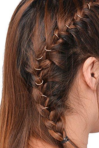Butterme 10pcs Goldring Shell Hände verlässt Stern hängende Ringe gesetzte Haar Klipp Stirnband Haar Zusätze (Gold ring)
