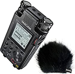 Tascam DR-100 MK3 Handy Audio Recorder + KEEPDRUM WSBK Fell-Windschutz