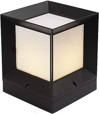 XAJGW Lampes murales extérieures à énergie Solaire à LED de Style Oriental Moderne Noir et Blanc, éclairage de Jardin Contemporain pour passerelles, clôtures ou abris (Size : 31 CM)