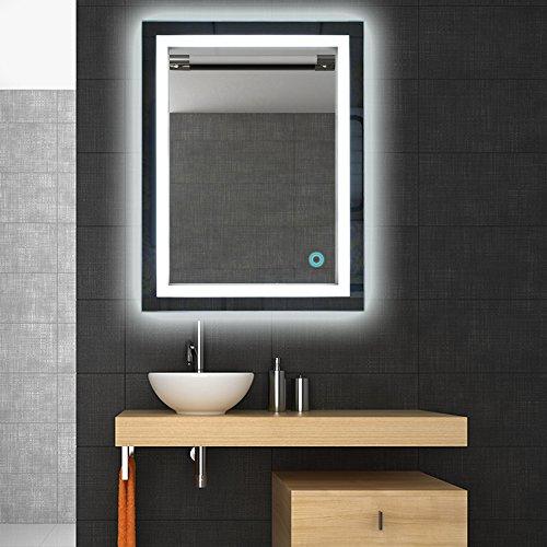 Badspiegel LED Beleuchtung Wandspiegel Badezimmerspiegel mit Touchschalter