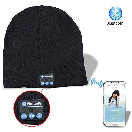 PsmGoods® Musica di Bluetooth Caldo Molle Beanie della Protezione del  Cappello con Cuffie Stereo Headset Wireless Speaker Mic Mani libere per  Uomo Donna ... 541e541f942c