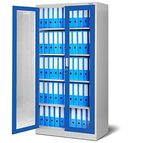 Schrank blau - Aktenschrank aus Glas