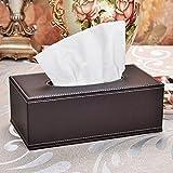 Delmkin Kosmetiktücherbox Hochwertig PU-Leder Tissue Box - 25