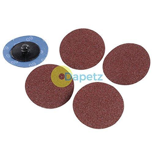 daptez® Schnellwechsel-Schleifscheiben Set 75mm 5-teilig Körnung 80Aluminium-Oxid
