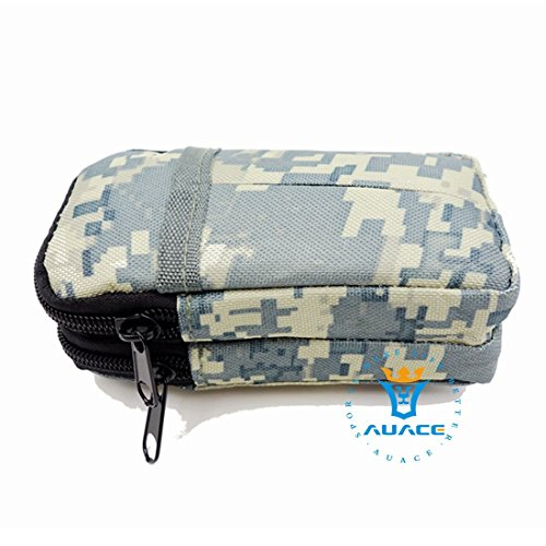 Multifunktions Survival Gear Tactical Beutel MOLLE Tasche zwei Schichten Military Handy Tasche, Outdoor Camping Tragbare Travel Bags Handtaschen Werkzeug Taschen Taille Tasche Handytasche ACU