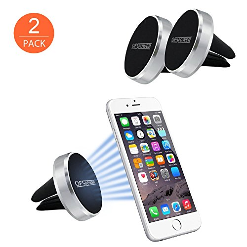 Magnetische Kfz Halterung, Ofspower (2 Stück) Universal Air Vent Handyhalterung Auto für iPhone 7,7 Plus /Samsung Galaxy S8/GPS-Gerät und Mehr