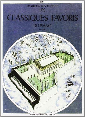 Pantheon des pianistes : les classiques favoris du piano tome 6 par Collectif