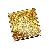 SMILEQ 12 Farbe Flash Sand Lidschatten Disc Gesichts Make-Up Für Lidschatten Cosmetology (Gelb)
