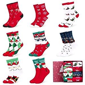 Fixget Calcetines de Navidad, 8