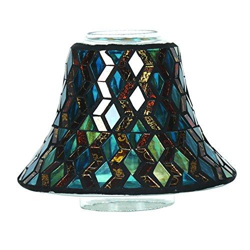 Aroma Accessories Mosaic Candle Jar Shade, Teal, 16 cm
