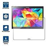 Beiuns Displayschutzfolie aus gehärtetem Glas für Samsung Galaxy Tab S (Bildschirm: 10,5 Zoll / 26,7 cm) SM-T800 SM-T805