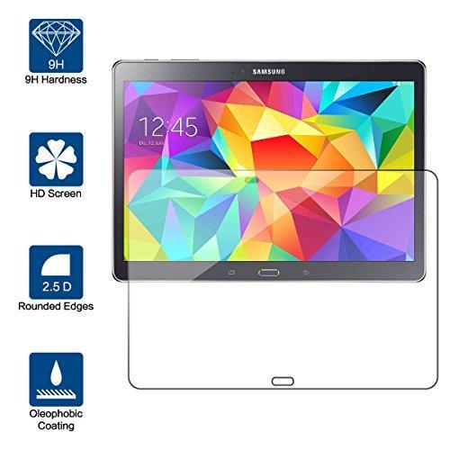 vetro temperato tablet Beiuns Vetro temperato Protettiva Protezione protettore Proteggi Schermo per Samsung Galaxy Tab S SM-T800 SM-T805