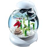 TETRA Cascade Globe Blanche - Aquarium pour Poisson Combattant ou Poisson Rouge - 6,8L