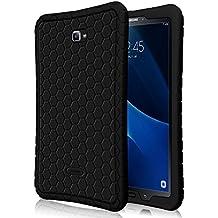 Fintie Samsung Galaxy Tab A 10.1 Funda - [Honey Comb Series] Ligero Case Funda Protectora de Silicón para Samsung Galaxy Tab A 10.1 2016 T580N / T585N Tablet, Negro