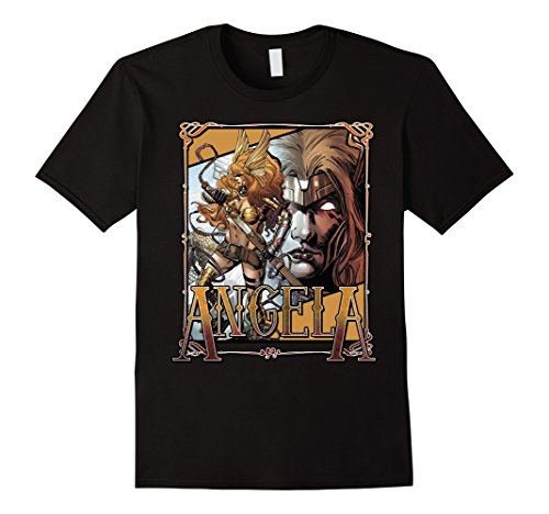 Men's Marvel Angela Guardians of the Galaxy Frame Graphic T-Shirt Medium Black