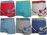 6er Pack Jungen Kinder Boxershorts TOP QUALITÄT verschiedene Farben. Microfaser Unterhosen 6er Pack Model NPA-01 (2/4) 104-116