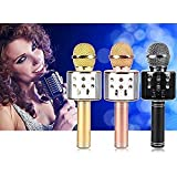 CONSPICOR Wireless Bluetooth Microphone Recording Condenser Handheld Microphone with Bluetooth Speaker Audio Recording for Mike All Android and iOS Devices iPhone and Smartphone,Laptops & Computers
