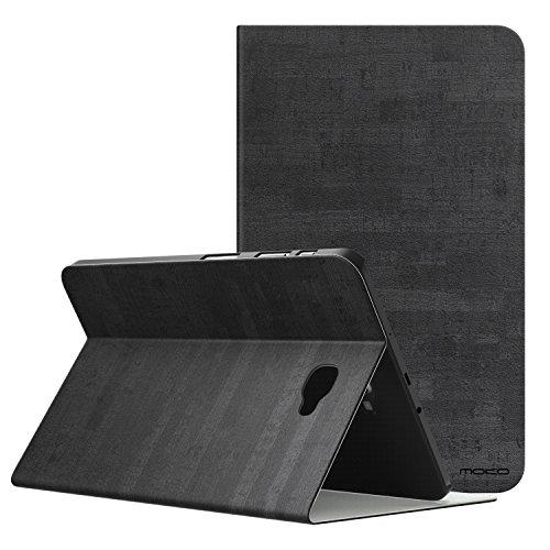 """MoKo Galaxy Tab A 10.1 Case - Sottile Pieghevole Custodia Protettiva (Auto Sveglia/Sonno) di Supporto Multi-Anglo per Samsung Galaxy Tab A 10.1"""" 2016 (SM-T580/SM-T585,No Pen Version), Nero Ardesia"""