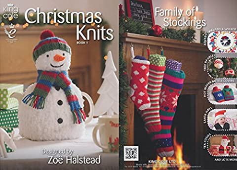 King Cole Christmas Knits Knitting Book Double Knitting Patterns by