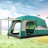 YuFLangel Outdoor Zwei Stahl Automatik Zelt Camping 6–44–12Personen Gruppe Big Zelt