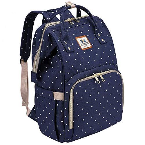 Wickeltasche Rucksack - Multi-Funktions-Wasserdichte Mutterschaft Wickeltaschen für Reisen mit Baby - Große Kapazität, Langlebig und Stilvoll(Blau)