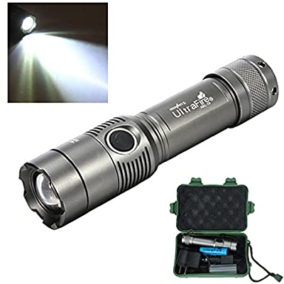 Tonsee 3000LM CREE XM-L T6 LED Taschenlampe w / 18650 Akku & Ladegerät & Box von Tonsee - Outdoor Shop
