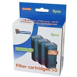 Superfish Aqua-Flow 50 Filter Easy Click Cartridge x 3 150g