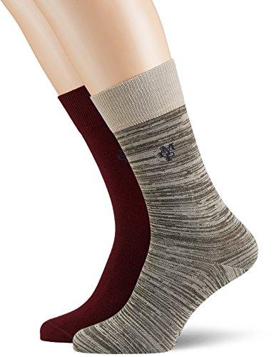 JONTE  Legwear M-Socks 2-pack Herren socken, braun (ratan 307), 43/46 (Herstellergröße: 406), 155624 (Marco Unterwäsche)