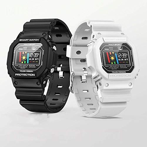 Watch HD Fashion Smart Sport Armband Watch IP68 Tiefe, wasserdichte Anrufunterdrückung Bluetooth Kamera (schwarz, weiß) JFYCUICAN weiß