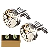 Magic show Deluxe Steampunk Vintage Uhrwerk Form Manschettenknöpfe für Männer Inkl. Styling