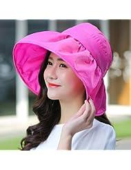La versi¨®n coreana de la visera Top Hat vac¨ªo Uv-rim Tapa de playa plegable Sunscreen femenino Verano Sombreros