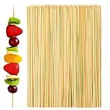 Aneco 500Pezzi spiedini in bambù per bastoni in Legno spiedini spiedi per Barbecue, Cocktail Picks o Party Essentials 25,4 cm