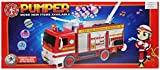 SystemsEleven Fire Engine Truck Bubble Machine Blower Solution Birthday Party Bubbles Toy