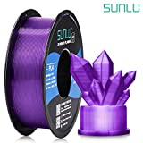 SUNLU Transparent PLA Filament 1.75 mm 3D Printer Filament, 1kg Spool 3D Printing Filament, Dimensional Accuracy +/- 0.02 mm for 3D Printer and 3D Pen (Transparent Purple)