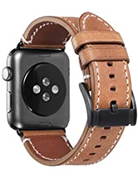 iStrap Pulsera Compatible para Apple Watch 38mm 40mm 42mm 44mm Correa Cuero para Compatible iWatch para iWatch Series 4,Series 3,Series 2,Series 1