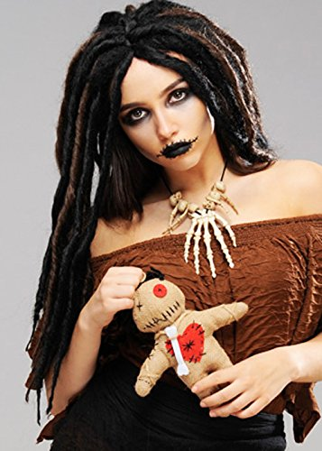 Womens Halloween Deluxe Voodoo Dreadlock Perücke