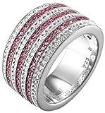 ESPRIT Collection Damen-Ring 925 Sterling Silber rhodiniert Kristall Zirkonia pallyne berry rosa